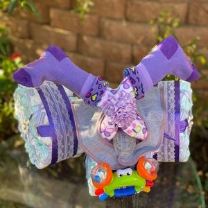 Motorcycle Diaper Cake. Baby Shower Gift